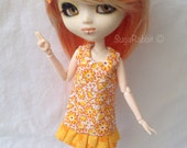 Sunny Flowered Ruffle Mod Dress