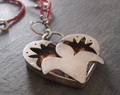 shadowbox heart necklace