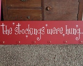 The stockings were hung VINYL LETTERING ONLY