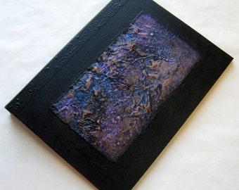 Handmade Journal Refillable Black Distressed Copper Texture Patch 12x9 Original
