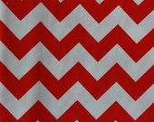 Riley Blake Medium Chevrons Red