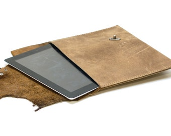gadget case - leather tablet sleeve cover - leather ipad case - ipad mini steampunk carry cover
