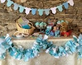 Baby Shower Supplies. It's a Boy Teal Blue Fabric Banner for Baby Showers, Birthdays, Party Decoration, Candy Buffet, Photo Backdrop, 6 ft.