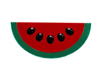 Red Acrylic Watermelon Wow Brooch
