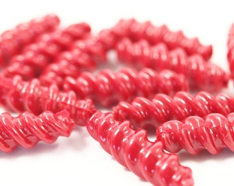 20 pcs Vintage German Beads , Plastic Beads , Findings , 23x5 mm , Lucite Beads