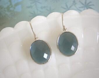 Clearance Sale, Jewelry Sale, Sapphire Blue Earrings, Silver Earrings, Best Friend Birthday, Bridesmaid Earrings, Mother's Day Jewelry