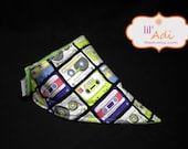 Bandana Bib- DROOL ON THIS- Cassette Tapes- As seen in Baby Talk Magazine- Ready to Ship