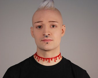 Blood  choker  necklace