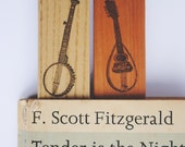 Wooden Bookmark - Musical Instruments