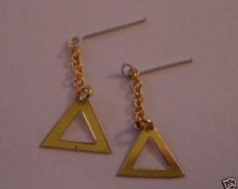 Vintage Barbie or Casey REPRODUCTION Triangle earrings