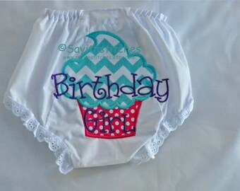 Appliqued Bloomers or Diaper Cover