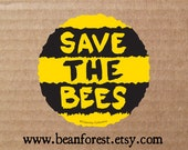 save the bees laptop decal sticker honey bee gifts earth day environmental bumper sticker beekeeper gifts beekeeping environmentalist decal