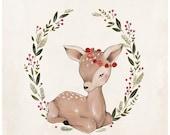 Christmas Deer - 10X10