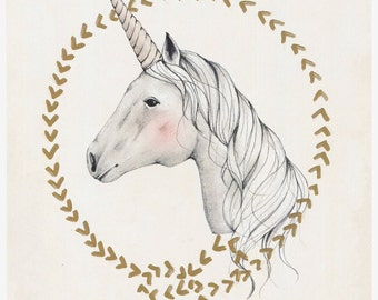 UNICORN - 8X10 art print