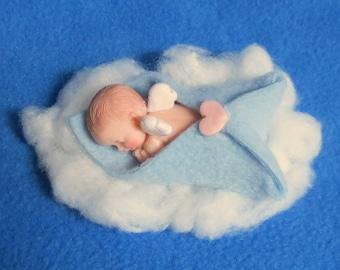 Newborn baby angel ornament or figurine boy or girl Baby's 1st Christmas Ornament