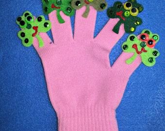 Puppet Glove Set 5 LITTLE SHAMROCKS Puppet Glove Set
