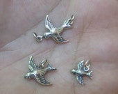 Sterling Silver Songbird Charm,Tiny Songbird Charm  or Song Bird Link - You choose which one