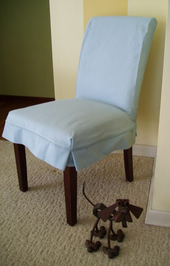 parson chair slipcover blue canvas dining chair slip cover washable