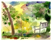 SALE! - Awaiting - Limited Edition Watercolor Print - Morris Arboretum