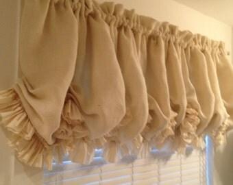Curtains Ideas cream burlap curtains : Handmade white burlap curtain – Etsy