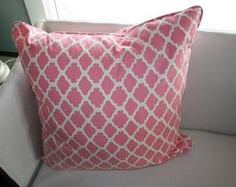 Beautiful Pink Trellis 24 inch Pillow