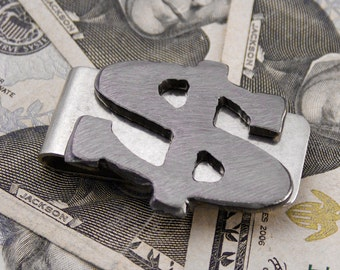 Dollar Sign Money Clip - Gift for Best Man, Groomsmen Gift, Wedding or Birthday Handmade by WATTO Distinctive Metal Wear