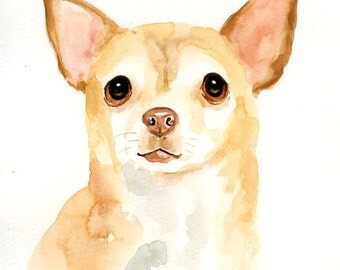 CUSTOM of your PET Original watercolor painting 8X10inch