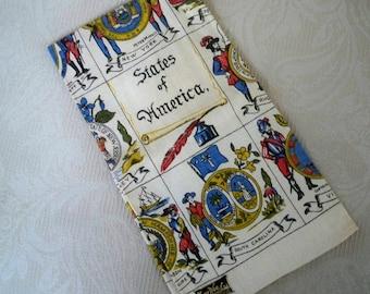 Vintage Linens Thirteen States Tea Towel Kay Dee Fourth of July