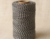 Full Spool Heavy Twine - 100 Yards - Three Color - Black White Grey - 10 Ply Heavy Cotton Twine No. 71
