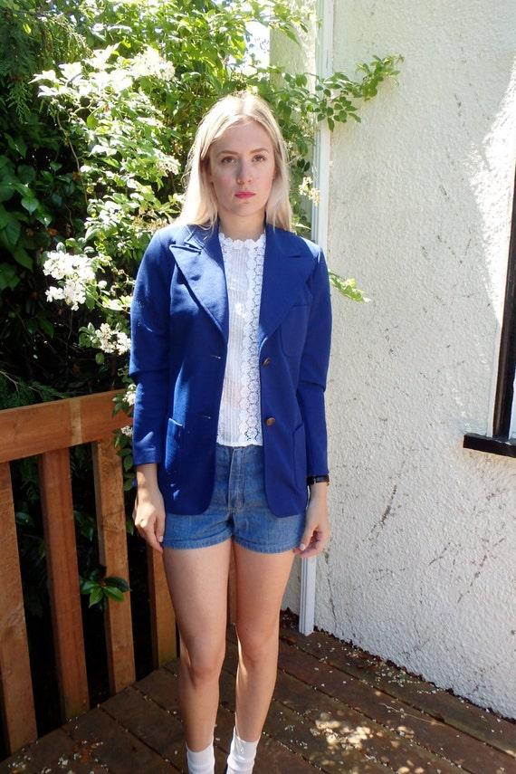 Vintage / Womens / Jacket / Blazer / Royal Blue