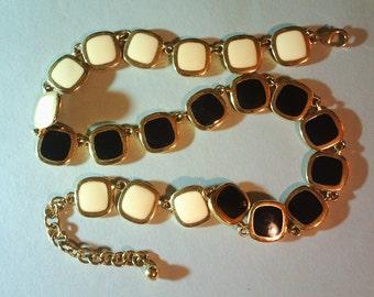 Vintage Ivory & Onyx necklace