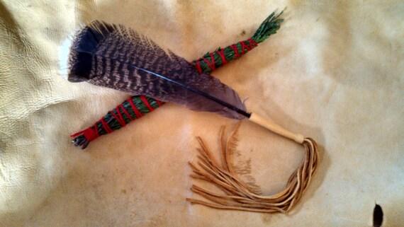 Smudge Fan - Turkey Medicine & Cedar Bundle