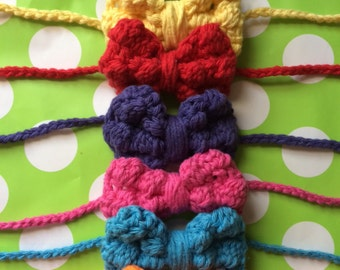 Colorful Bow Headband (or Bowtie)