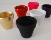 "25 Painted 3"" Clay Pot Set - PICK YOUR COLOR! - Perfect for diy Projects, Wedding Favors, Guest Favors, Garden, Terracotta"