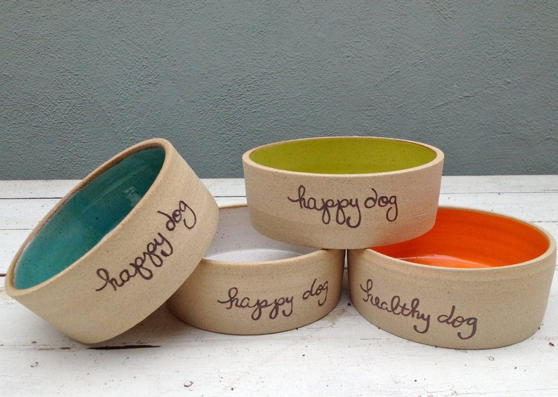 Personalized Dog Bowl Pet Bowl Dog bowl pottery Ceramic Dog - photo#47