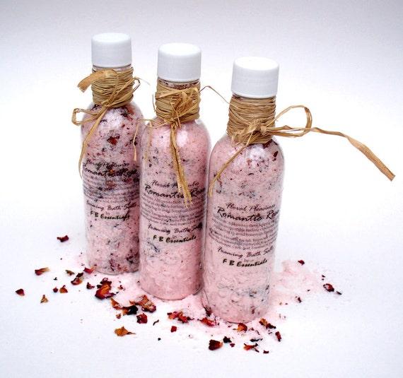 Floral Pleasures Romantic Rose European Bath Salts 8 oz. Bottle