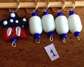 USA themed stitch markers - set of 5 markers