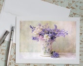 Flower Photo Notecard - Bluebells in Cup, Floral Photo Notecard, Note Card, Stationery, Blank Notecard