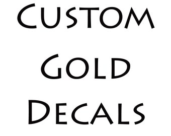 10 SHEETS OF CUSTOM 22K Gold Decals for Ceramic, Glass, and Enamel