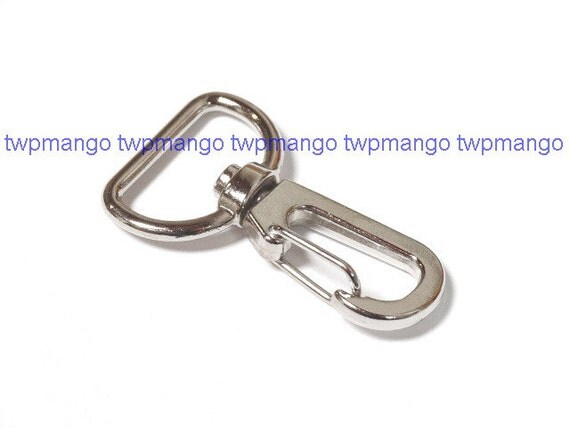50 Silver Metal Lobster Swivel Clasps Clips H45-50