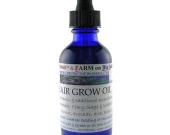 All natural Hair Grow Oil  for balding and thinning hair promotes hair growth and healthy scalp 2 ounce bottle