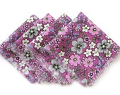 Cloth Napkins - Purple Flowers - Set of 4