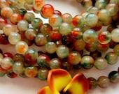 36 Jade Beads 10mm cream persian gold transparent gemstone beads supplies jewelry making 16510mm