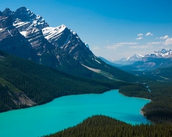 Banff Photography, Peyto Lake Jasper Alberta Rockies Mountains Landscape Canada Wall Art Blue Canadian Rockies can7