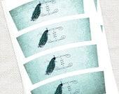 vintage peacock candle wraps - printable editable file -  votive wrap