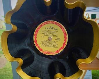 Vintage Melted Record Bowl