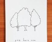 Pee Here Now - Handmade Card