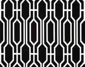 Fabric shower curtain Covington harland onyx black and white cotton