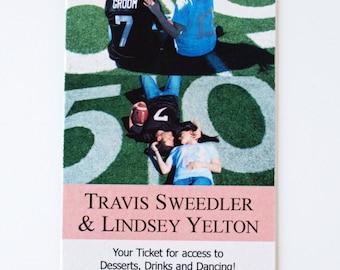 Custom Design  - Save the Date Ticket - Digital File Download