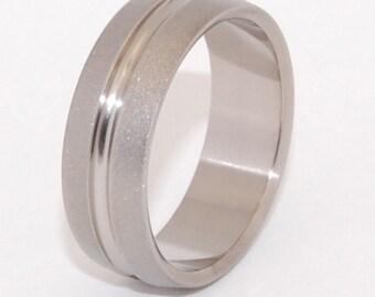 Titanium Ring, Men's ring, Women's ring, Silver ring, Titanium Wedding rng, Eco-Friendly ring - SATELLITE